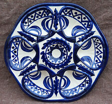French Blue and White Oyster Plate St Jean Bretagne near Quimper 1960