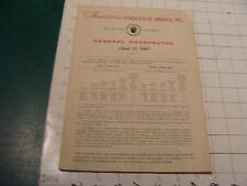vintage Booklet: 1965 - GEMERAL PROSPECTUS investors syndicate of America 46pgs