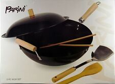 """New Classic (5) Piece Wok Set By Parini  """"NEW"""" in the Box"""