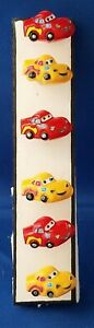Disney CARS Red & Yellow - Set of 6 Handmade Office Refrigerator Magnets