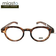 "MIASTO ""STANFORD"" ROUND OVAL THICK NERD READER READING GLASSES+1.00 TORTOISE"