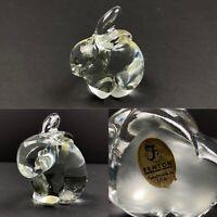 Fenton Art Clear Glass Bunny Rabbit Figurine Handmade In The USA