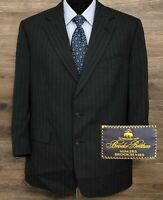 Brooks Brothers Makers BrooksEase Men's Wool Pinstripe Blazer Suit Jacket 42S