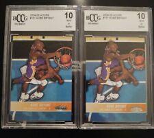 PRISTINE LOT ~ Kobe Bryant Graded Gem Mint 10 cards ~ LOT of 2 Lakers HOF