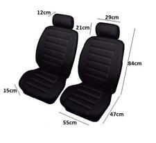 2 x Sports Look Black Front Seat Covers-Leather Look Protectors-Quality For Kia