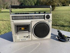 VINTAGE 1980s Panasonic RX-1540 Portable Cassette AM/FM Radio Boom Box Recorder