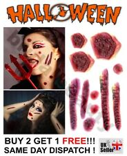 Halloween Zombie Scars Tattoos Wound FX Face Make-Up Fake Burns Blisters Boil UK