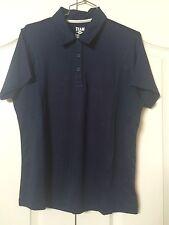 Womens Team 365 Golf Shirt M Navy Blue Athletic Polo Top New