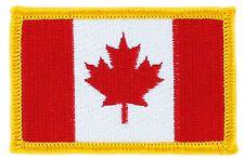 FLAG PATCH PATCHES CANADA CANADIAN IRON ON COUNTRY EMBROIDERED SMALL