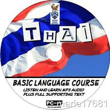 LEARN TO SPEAK THAI LANGUAGE PC-CD COURSE EASY BEGINNER PROGRAM MP3 + TEXT NEW