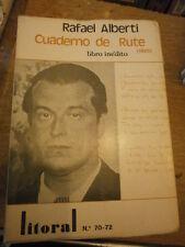 Litoral Presenta Cuaderno de rute 1925  libro inedito de Rafael Alberti N° 70/72