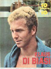 GA16 Clipping-Ritaglio 1974 Klaus Di Biasi - Io proprio io...---2