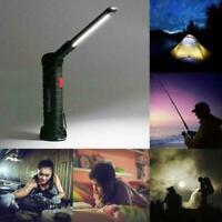 USB COB LED Magnetic Work Light Car Garage Mechanic Home Rechargeable-Torch U3D7