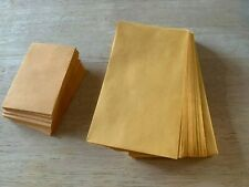 """*New* Lot of 25 No. 1 Kraft Manila Coin Envelope 2-1/4� x 3-1/2� and 3-1/2"""" x 6"""""""