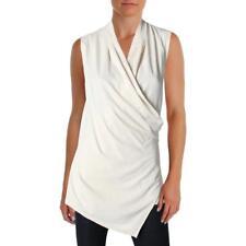 Lauren Ralph Lauren Womens Zorina Ivory Sleeveless Pullover Top L BHFO 7048
