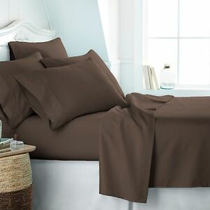 Home Collection Ultra Soft 4 Piece Bed Sheet Set -FREE BONUS PILLOWCASES!