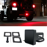 2'' Trailer Truck Hitch Towing Receiver Cover 15 LED Brake Light Cover Red