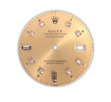 Rolex DateJust Champagne Diamond and Baguette Dial