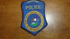 WATERTOWN  CONNECTICUT POLICE EARLY PATCH  1940'S  OBSOLETE  BX E 8
