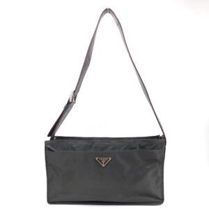 PRADA Shoulder Bag Triangle Logo Nylon Green