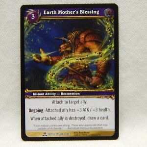 WORLD OF WARCRAFT TRADING CARD 2008, EARTH MOTHER'S BLESSING, BETRAYER 38/264