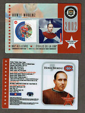 2002 Canada Post NHL All-Stars, Canadiens' Howie Morenz Laminated Stamp Card