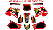 5094 CR 125 95-97 CR 250 95-96 Autocollants Déco Graphics Decals Stickers Kit