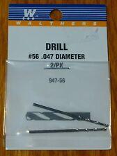 Walthers #947-56 Drill Bit (2 Pack) #56  .047 Diameter