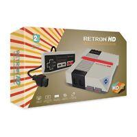 RETRON HD * Retro Premium Mini NES Console * NEW Boxed PAL & NTSC * Grey