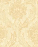 Victorian Floral Damask Wallpaper Gold Cream Nude Damask Laurels Double Roll