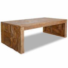 vidaXL Teak Wood Coffee Table Erosion Living Room Office End Side Tea Table