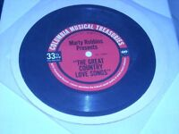 """33 1/3 FLEXI DISC CARDBOARD 5.5"""" RECORD. MARTY ROBBINS. GREAT COUNTRY LOVE SONG"""