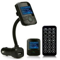 Bluetooth Car Kit FM Transmitter MP3 Player USB Charger Remote Control Hand Y7V5