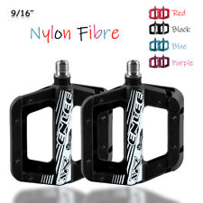 9/16'' Nylon Fibre Flat Platform Bearing Pedals Ultralight MTB Road Bike Bicycle