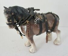 VINTAGE ~ MELROSE POTTERY CO. LTD. ~ SHIRE HORSE IN HARNESS