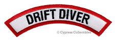 DRIFT DIVER CHEVRON - SCUBA DIVING iron-on DIVE PATCH embroidered applique