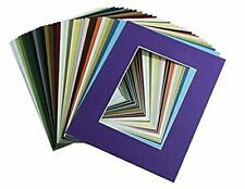 High Quality Crescent Pack of 10 11x14 Mixed Colors White Core Picture Mats for