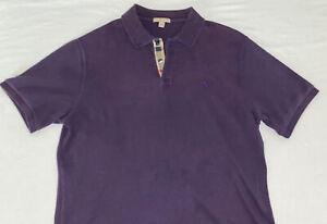 BURBERRY BRIT 100% Cotton Men's Purple Collared Shirt Size XL