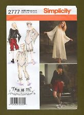 Arkivestry Costume Sewing Pattern~Gown Tops Bloomers Cap (6-12) Simplicity 2777