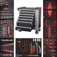 Premium Werkzeugwagen mit 7 Schubladen inkl. Werkzeug CR-V in Schaumeinlagen