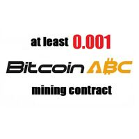 at least 0.001 Bitcoin Cash ABC (BCH) 1 hour Cryptocurrency mining contract