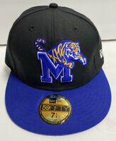 Memphis Tigers Black & Blue W/ Tiger New Era 59Fifty Hat Cap New w/ tags 7 1/4
