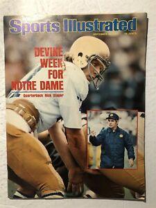 1975 Sports Illustrated NOTRE DAME Dan DEVINE Rick SLAGER No Label MUHAMMAD ALI