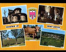 SAINT-URCIZE-en-AUBRAC (15) BOVINS , FERME , intérieur EGLISE & CALVAIRE