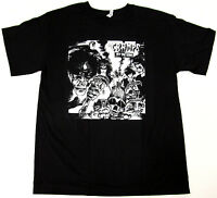 The CRAMPS Off The Bone T-shirt Punk Rock Tee Adult M,L,XL,2XL Black New