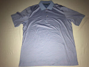 Bobby Jones XL Purple Striped Golf Shirt 100% Cotton NWOT!