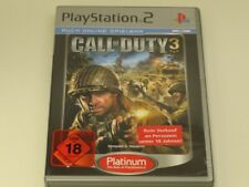 !!! PLAYSTATION PS2 SPIEL Call of Duty 3 PLAT USK18 TOP !!!