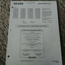Refrigerator Sears Repair Parts Lists All Major Appliances Home & Garden Manual