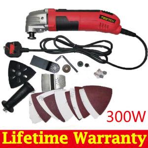 230V Electric Oscillating Multi Tool Sander Grinder Cutting + Blade DIY Tool New