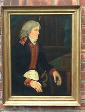 Rare 1790 O/C Spanish Portrait Of An Aristocrat. Manner Of Joaquin Inza Unsigned